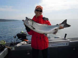 Connie's first West Coast Salmon